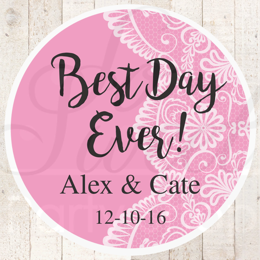 Wedding Favor Stickers, Bridal Shower Favor Labels, Personalized ...