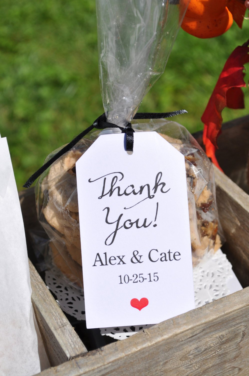wedding favor tags thank you baby shower