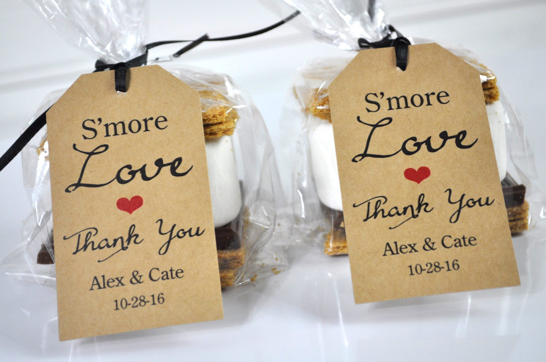 Wedding Favors Smore Love Favor Tags Rustic Wedding Favors Thank