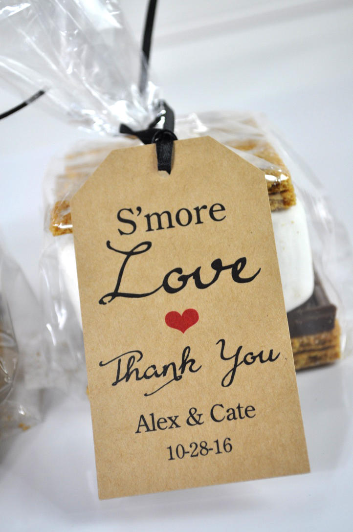 wedding favors  smore love favor tags  rustic wedding