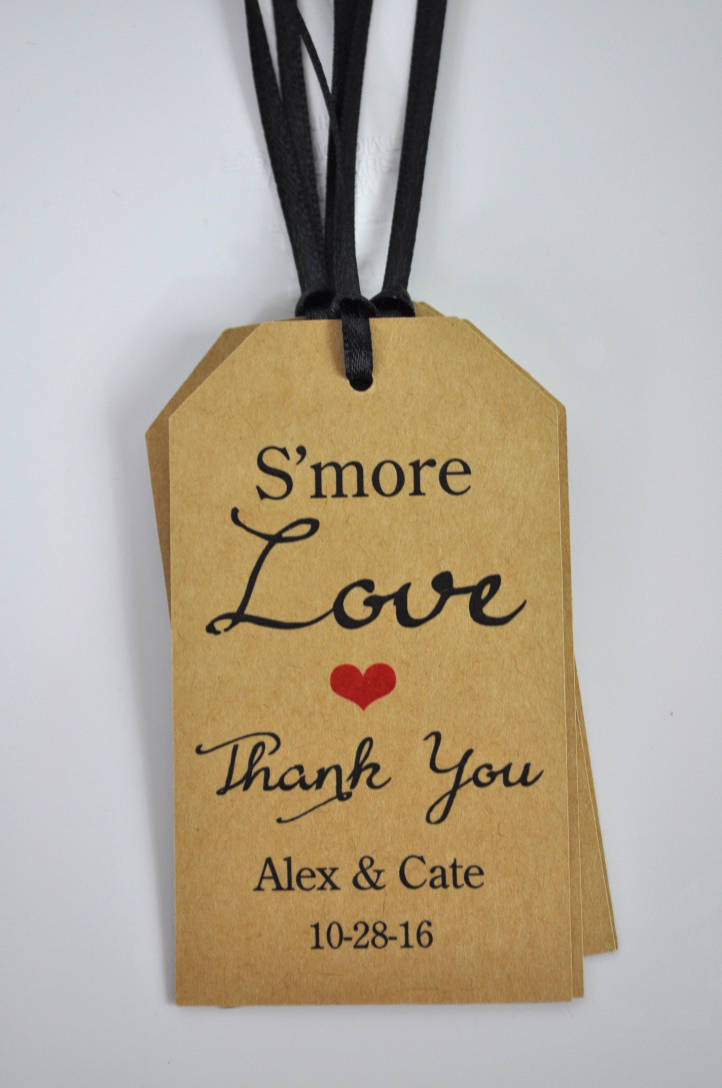 Wedding Favors Smore Love Favor Tags Rustic Thank You