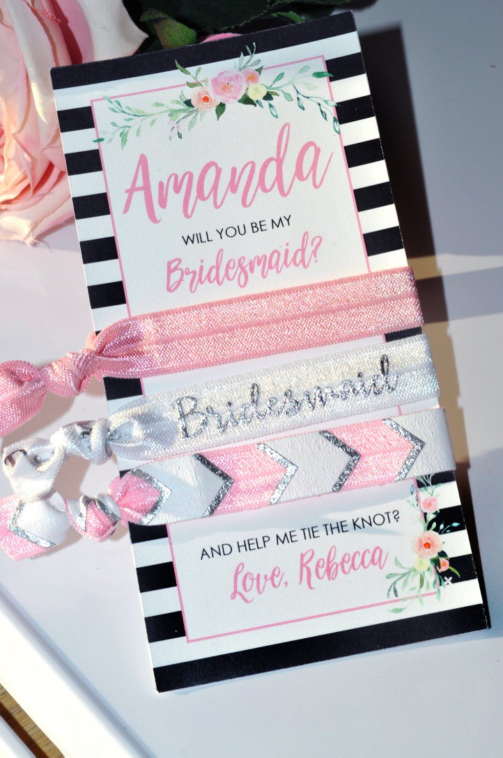 Will You Be My Bridesmaid Hair Tie 0fe106d6828