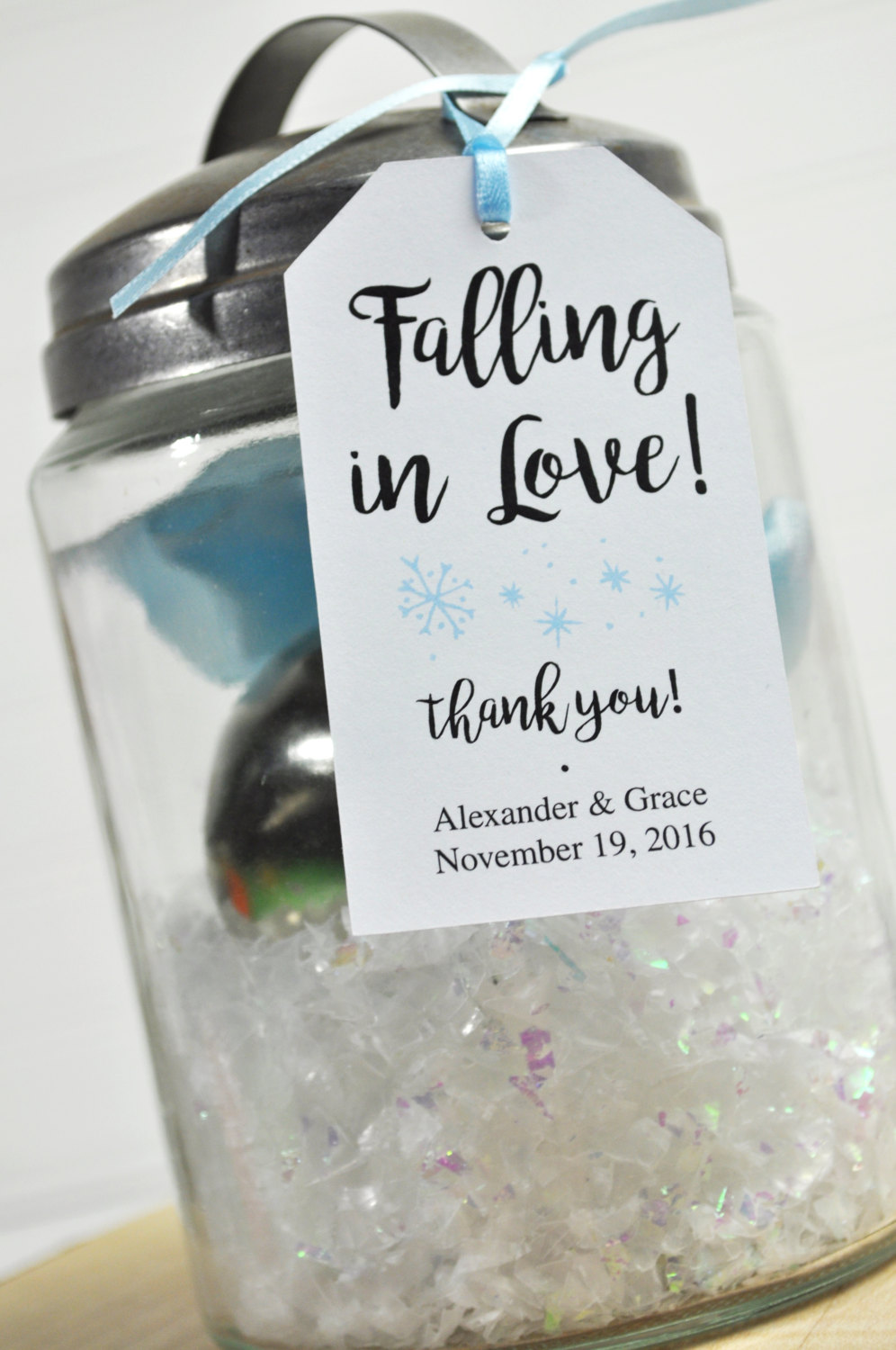 Winter Wedding Favors Bridal Shower Favor Tags Snowflake Favor Tags Thank You Tags Party Favors Personalized Favors Set Of 12